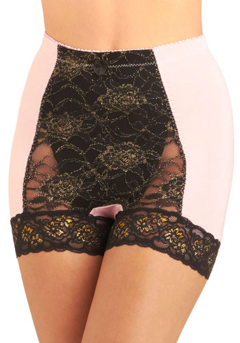 Bold Hollywood Undies in Gilded Hyacinth - Pink, Black, Bows, Lace, Pinup, Vintage Inspired, Sheer