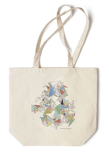 Art's Devotion Tote by Miyuki Sarah - Cream, Multi, Casual, Exclusives, Cotton