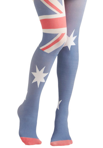 Yea or Nation Tights in Australia - Blue, Red, White, Casual, Statement