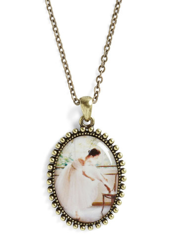 To the Pointe Necklace - Multi, Gold, French / Victorian, Pastel