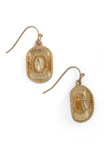 Howdy You Do? Earrings - Gold, Solid, Casual