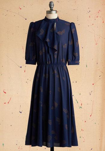 Vintage Contour Study Dress