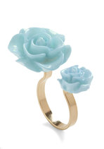 Retro Rosie Ring in Light Blue