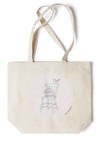 Art's Devotion Tote by Tiffany Atkin - Cream, Multi, Casual, Exclusives, Cotton