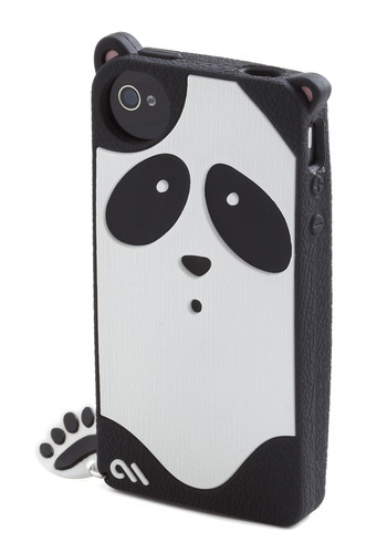Call of the Wilderness iPhone 4/4S Case - Black, Print with Animals, White