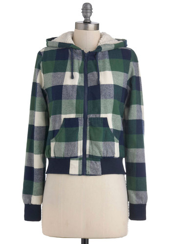 Meg's Snug as a Bug Hoodie - Multi, Green, Blue, Tan / Cream, Plaid, Pockets, Casual, Hoodie, Long Sleeve, Rustic, Fall, 90s, 2, Short