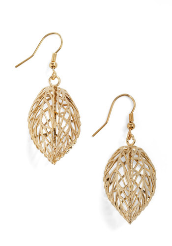 The Ornamental Outdoors Earrings - Gold, Gold
