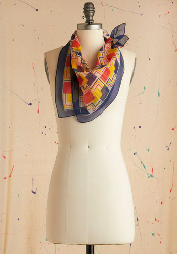 Vintage In Your Primary Scarf