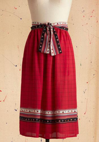 Vintage Pattern Practice Skirt