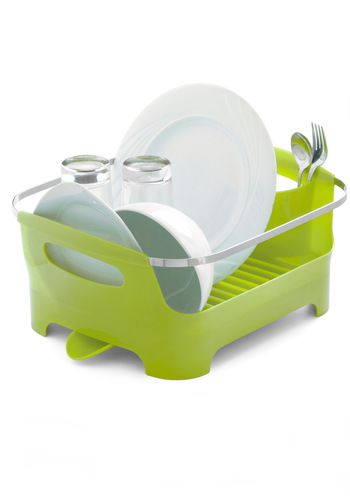 Chore I Can Dish Rack in Green - Green, Dorm Decor, Urban, Minimal, Solid