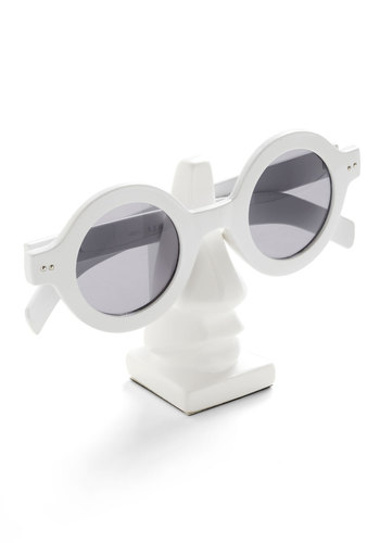 Nose for Style Glasses Stand - White, Solid, Dorm Decor, Minimal