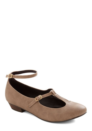 Basic Beauty Flat - Tan, Solid, Flat, Work, Casual