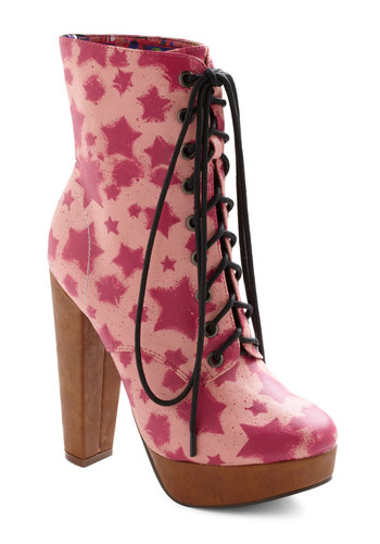 Super Starpower Boots - Pink, Party