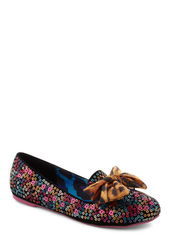 Go All Haute Flat - Multi, Animal Print, Bows, Sequins, Party, Statement, Glitter, Flat