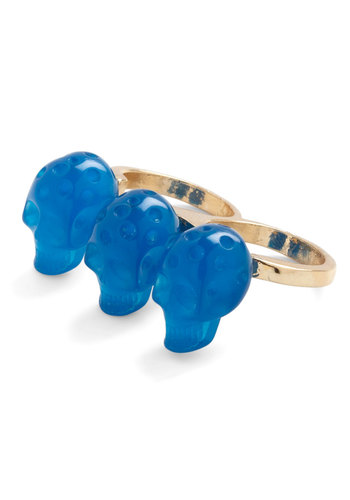 Skull of Style Ring - Blue, Statement