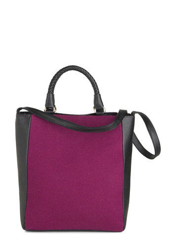 Plum Kinda Wonderful Bag - Purple, Black, Woven, Work