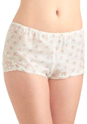 Daydream Come True Sleep Shorts - Cream, Multi, Floral, French / Victorian, Tis the Season Sale