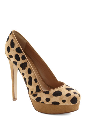 Fierce Factor Heel - Tan, Black, Animal Print, High, Platform, Party, Statement, Urban, Girls Night Out