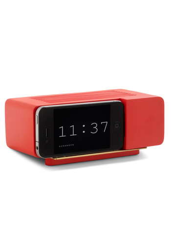 Wake Up Call iPhone Dock in Red - Red, Urban, Mod, Minimal, Solid, Dorm Decor, Mid-Century