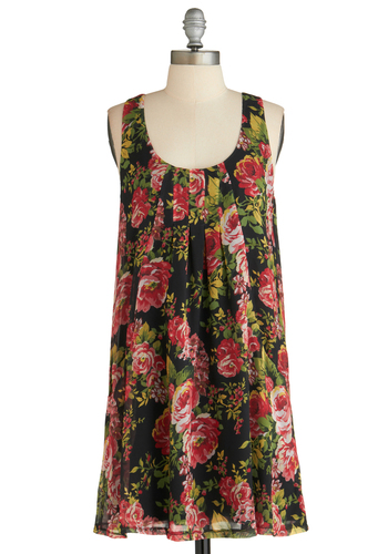 Sample 2155 - Multi, Floral, Pockets, Casual, Sleeveless, Pleats, Tent / Trapeze