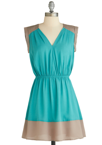 Sample 2160 - Green, Tan / Cream, Casual, A-line, Sleeveless