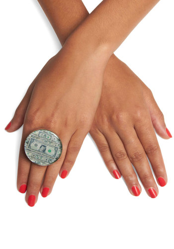Pay Your Tabby Ring by Locketship - Print with Animals, Party, Statement, Kawaii, Quirky