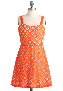 Tangible in Tangerine Dress