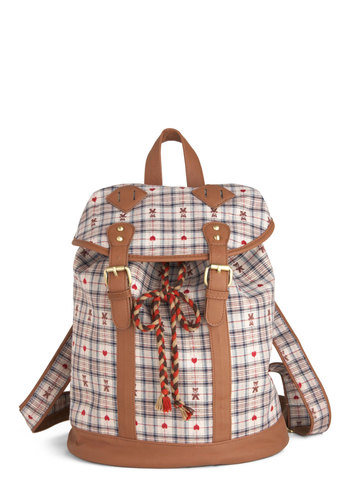 Grins and Bears Backpack - Multi, Print, Tassles, Casual, Scholastic/Collegiate