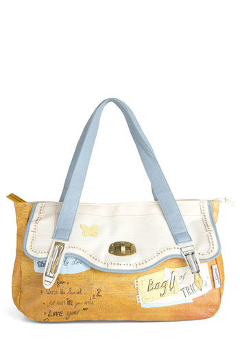 Homeroom Favorite Bag by Disaster Designs - Multi, Yellow, Blue, Tan / Cream, Buckles, Casual