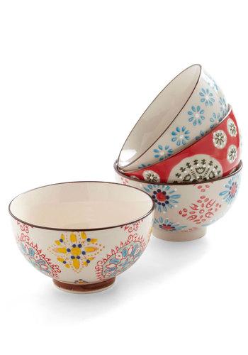 Housewarm and Tasty Bowl Set - Multi, Boho, Multi, Print, Graduation