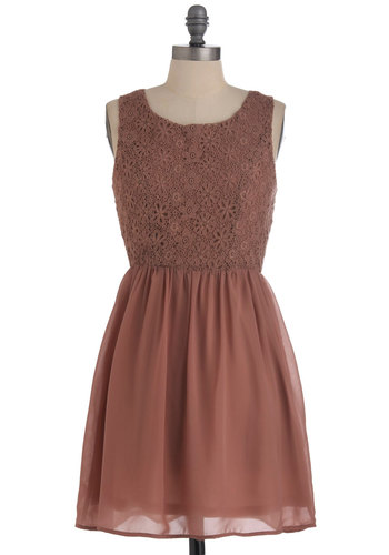 Make the Mousse of It Dress - Mid-length, Pink, Solid, Lace, Party, A-line, Sleeveless, Exclusives, Cocktail, Sheer, Tis the Season Sale