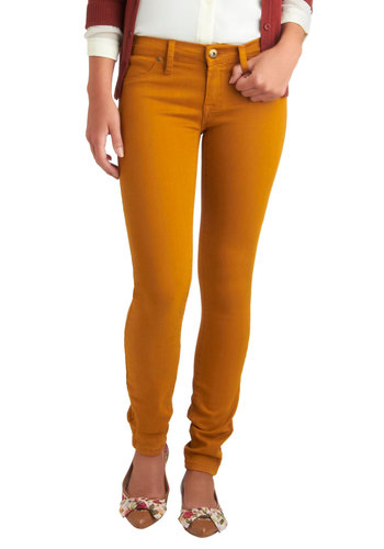 Fruit and Far Between Jeans in Banana by Blank NYC - Yellow, Solid, Pockets, Casual, Skinny, Long, Denim, Variation