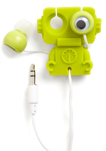 Music to My Gears Earbuds by Kikkerland - Green, Quirky, Kawaii