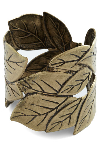 Fall for Foliage Bracelet - Gold, Casual, Rustic