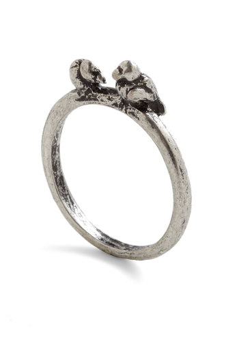 Tweet Up Ring - Silver, Casual