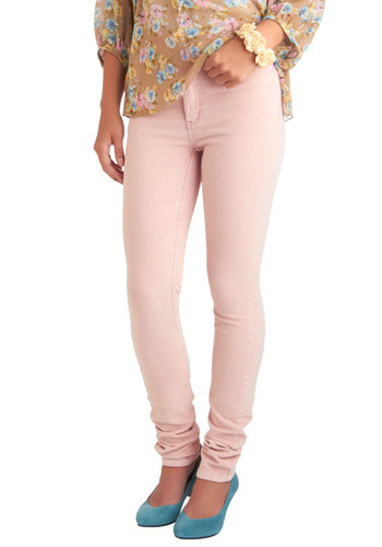 Blush for Life Pants - Pink, Solid, Pockets, Casual, Skinny