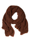 With the Scarf, in the Study - Orange, Black, Houndstooth, Casual