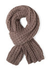 Cozy and Effect Scarf in Umber - Tan, Solid, Knitted