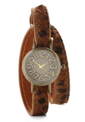 Know Watch You Want - Tan, Brown, Animal Print, Safari, Casual, Girls Night Out, Leather