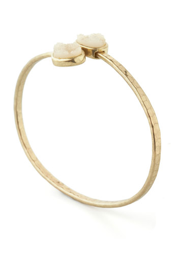 Tour de Quartz Bracelet - White, Gold, Solid, Luxe, Casual, Minimal