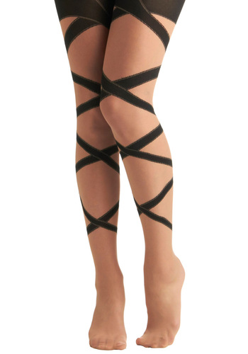 Around We Bow Tights - Black, Bows, Party, Girls Night Out, Fairytale, Sheer