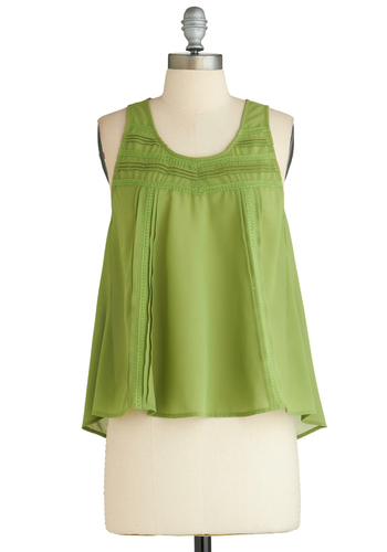Sample 2136 - Green, Solid, Casual, Sleeveless