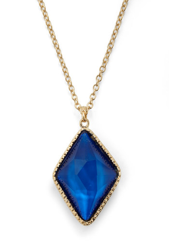 Multifaceted Femme Necklace - Red, Blue, Gold, Party, Statement
