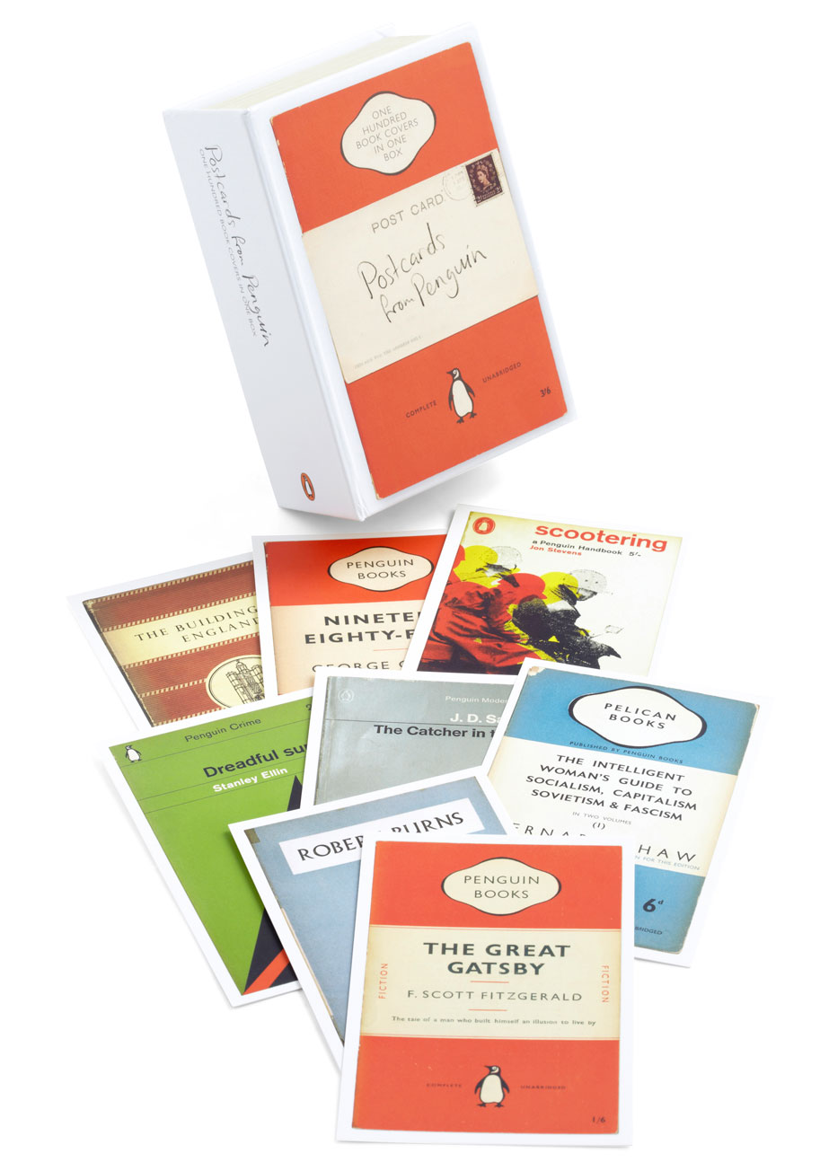 Vintage Penguin Book Cover Postcards ~ Notable and quotable postcards in penguin books mod