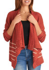 Curl Up with Me Cardigan - White, Stripes, Casual, Long Sleeve, Short, Red, Rustic, Coral, Tis the Season Sale