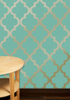 Hyde Park Temporary Wallpaper - Blue, Gold, Print, Mint, Mid-Century, Best