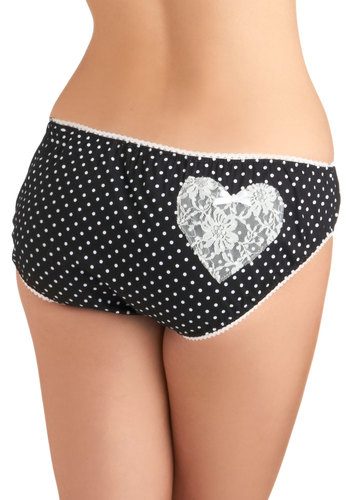 Path From Your Bubble Bath Undies - Black, White, Polka Dots, Bows, Lace, Vintage Inspired, Exclusives