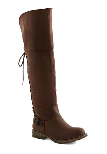 City Swashbuckler Boot - Brown, Solid, Buckles, Casual, Safari, Fall, Faux Leather, Lace Up, Low