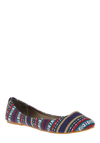 Weavie Wonder Flat - Multi, Stripes, Knitted