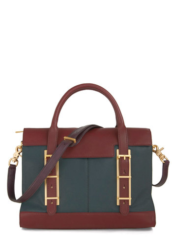 Botkier Standout Season Bag - Green, Brown, Work, Scholastic/Collegiate, Leather